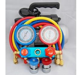 Pflege-Profis mit der V-Pumpe und Manometerställ