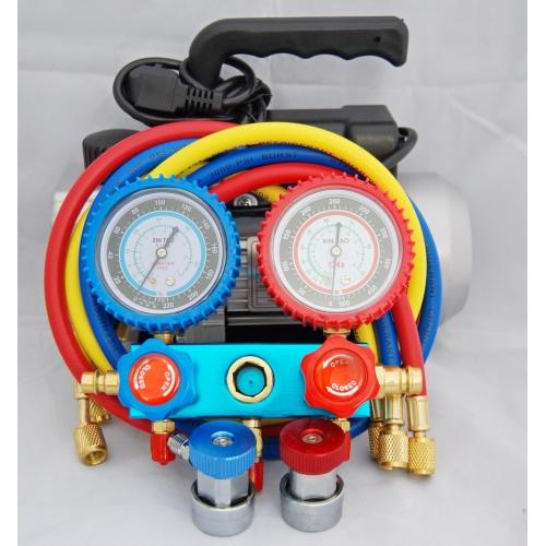 Servicesats Proffs med V-pump och Manometerställ
